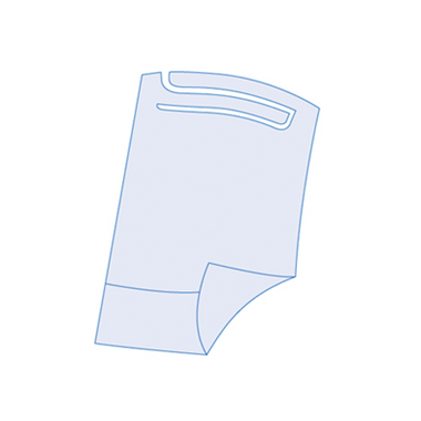 Babete-Impermeavel-Azul-com-Bolsa--37x60cm--100-unid-