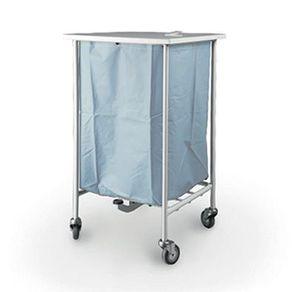 Carro-de-Roupa-Suja-Simples-Inox-com-Tampa-e-Pedal
