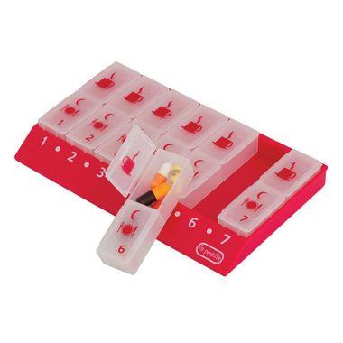 Organizador-de-Medicamentos-Semanal-S2-Vermelho--2-x-dia-