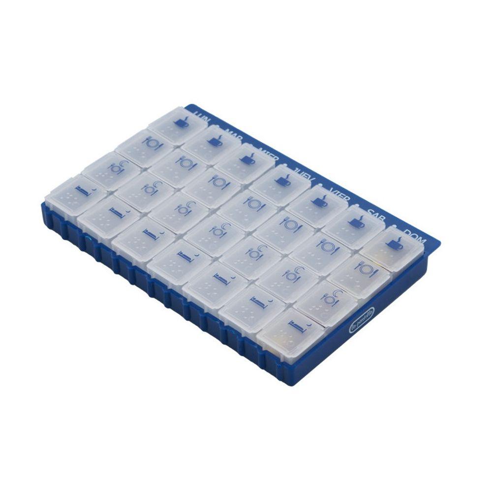 76bb2a783 Organizador de Medicamentos Semanal (4 tomas diárias) - MEDICALSHOP