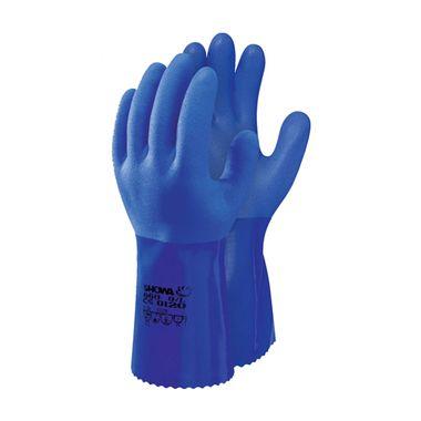 Luvas-em-PVC-Azul-e-Interior-em-Algodao-sem-Costuras