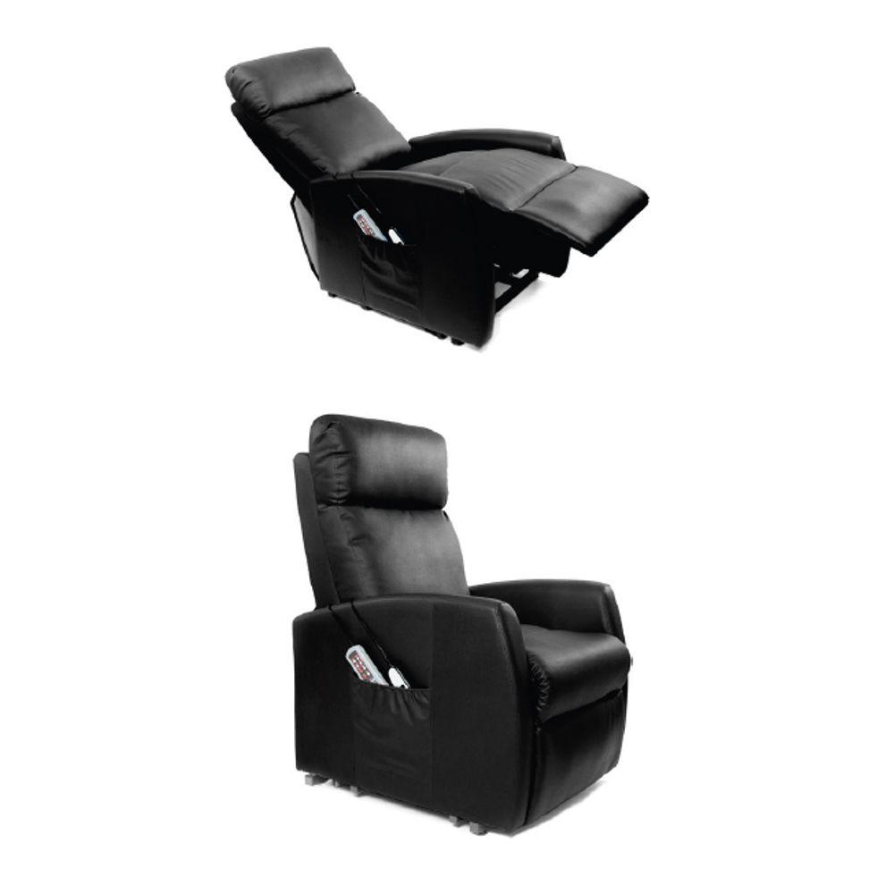 Poltrona Standard com Sistema de Elevação e Massagem cor: Preto