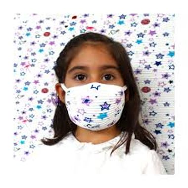 Mascara-de-Protecao-Lavavel-para-Crianca-modelo-Estrelas